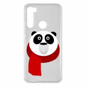 Etui na Xiaomi Redmi Note 8 Panda in a color scarf