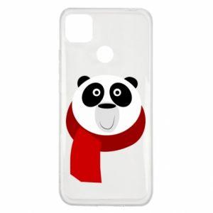 Etui na Xiaomi Redmi 9c Panda in a color scarf