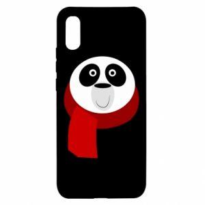 Etui na Xiaomi Redmi 9a Panda in a color scarf