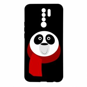 Etui na Xiaomi Redmi 9 Panda in a color scarf