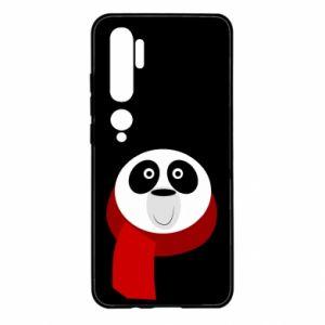 Etui na Xiaomi Mi Note 10 Panda in a color scarf