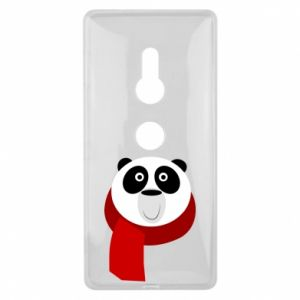 Etui na Sony Xperia XZ2 Panda in a color scarf