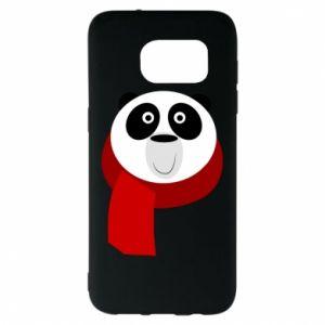 Etui na Samsung S7 EDGE Panda in a color scarf