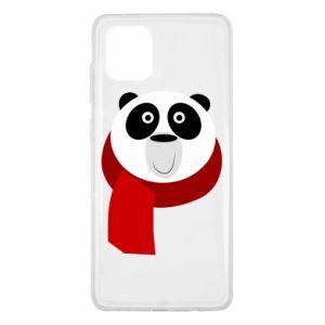 Etui na Samsung Note 10 Lite Panda in a color scarf