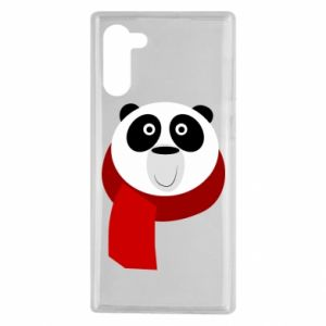Etui na Samsung Note 10 Panda in a color scarf