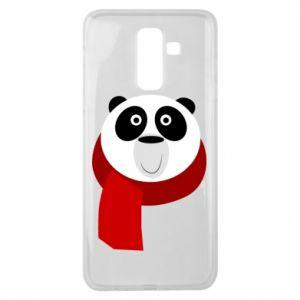 Etui na Samsung J8 2018 Panda in a color scarf