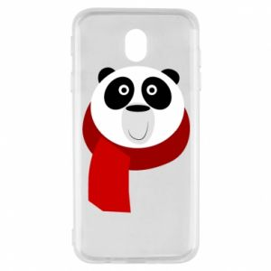 Etui na Samsung J7 2017 Panda in a color scarf