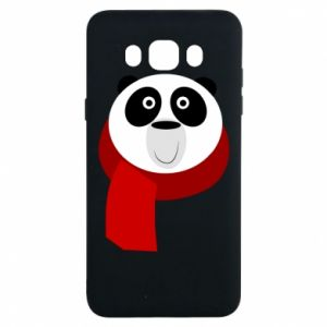 Etui na Samsung J7 2016 Panda in a color scarf