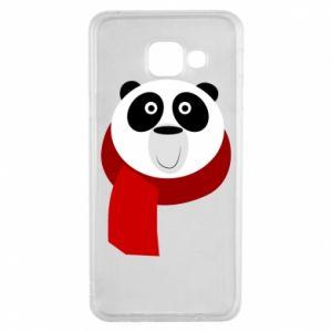 Etui na Samsung A3 2016 Panda in a color scarf