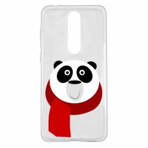 Etui na Nokia 5.1 Plus Panda in a color scarf