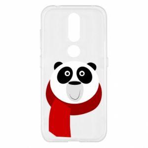 Etui na Nokia 4.2 Panda in a color scarf