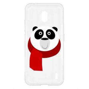 Etui na Nokia 2.2 Panda in a color scarf