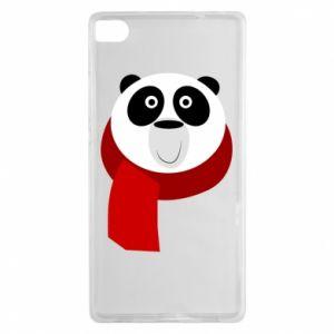 Etui na Huawei P8 Panda in a color scarf