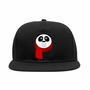 SnapBack Panda in a color scarf - PrintSalon