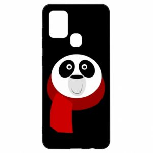 Etui na Samsung A21s Panda in a color scarf