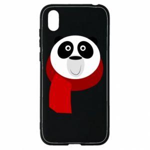 Etui na Huawei Y5 2019 Panda in a color scarf