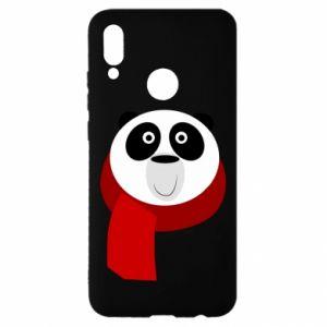 Etui na Huawei P Smart 2019 Panda in a color scarf