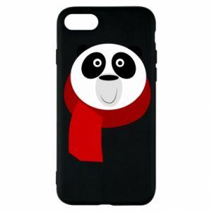 Etui na iPhone SE 2020 Panda in a color scarf