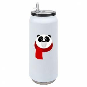Puszka termiczna Panda in a color scarf