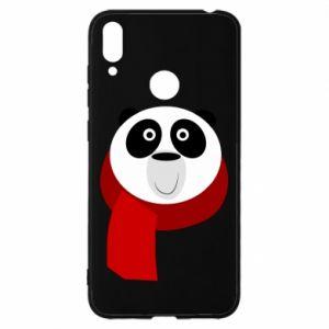Etui na Huawei Y7 2019 Panda in a color scarf