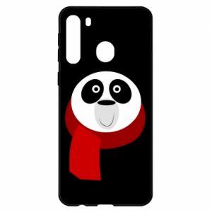Etui na Samsung A21 Panda in a color scarf
