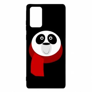 Etui na Samsung Note 20 Panda in a color scarf