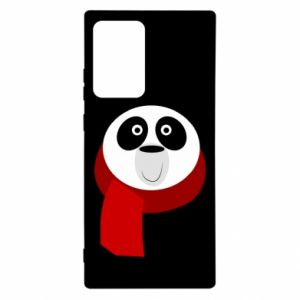 Etui na Samsung Note 20 Ultra Panda in a color scarf