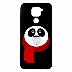 Etui na Xiaomi Redmi Note 9/Redmi 10X Panda in a color scarf