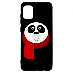 Etui na Samsung A31 Panda in a color scarf