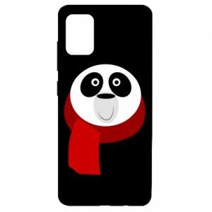 Etui na Samsung A51 Panda in a color scarf