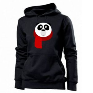 Women's hoodies Panda in a color scarf - PrintSalon