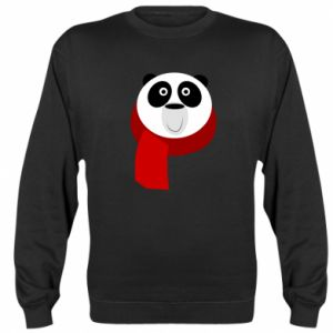 Sweatshirt Panda in a color scarf - PrintSalon
