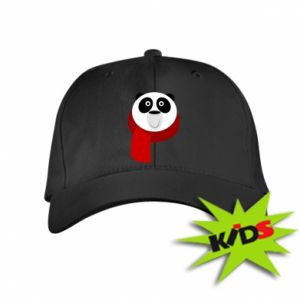 Kids' cap Panda in a color scarf