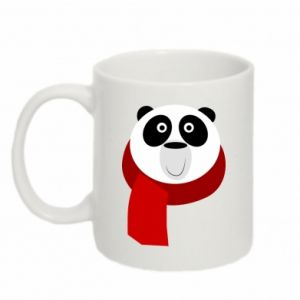 Mug 330ml Panda in a color scarf - PrintSalon