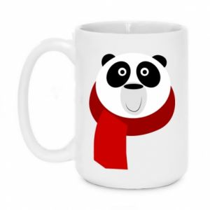 Mug 450ml Panda in a color scarf - PrintSalon