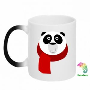 Chameleon mugs Panda in a color scarf - PrintSalon
