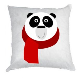 Pillow Panda in a color scarf - PrintSalon