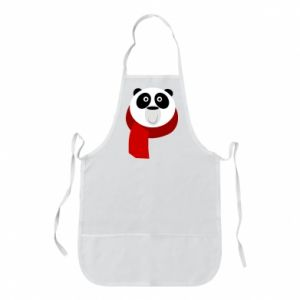 Apron Panda in a color scarf - PrintSalon