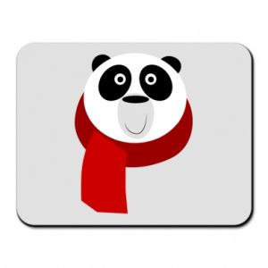 Mouse pad Panda in a color scarf - PrintSalon