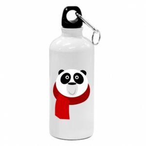 Bidon turystyczny Panda in a color scarf