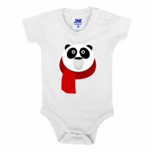 Baby bodysuit Panda in a color scarf - PrintSalon