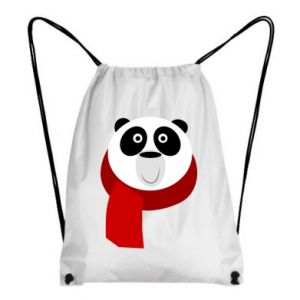 Backpack-bag Panda in a color scarf - PrintSalon