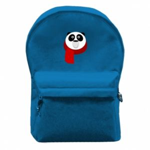 Backpack with front pocket Panda in a color scarf - PrintSalon