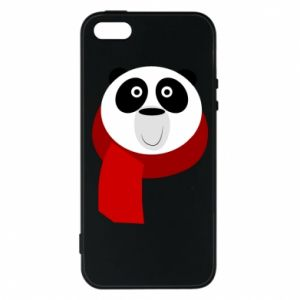 Etui na iPhone 5/5S/SE Panda in a color scarf