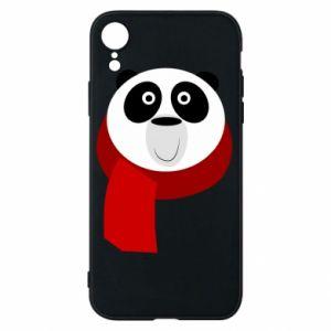 Etui na iPhone XR Panda in a color scarf