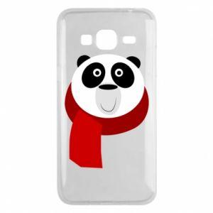 Etui na Samsung J3 2016 Panda in a color scarf