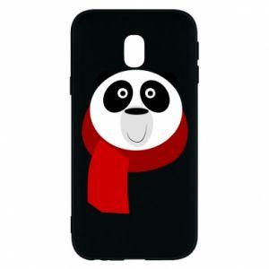 Etui na Samsung J3 2017 Panda in a color scarf