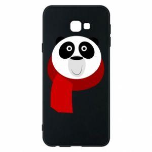 Etui na Samsung J4 Plus 2018 Panda in a color scarf
