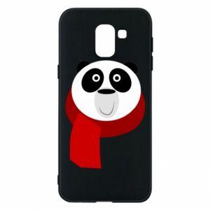 Etui na Samsung J6 Panda in a color scarf