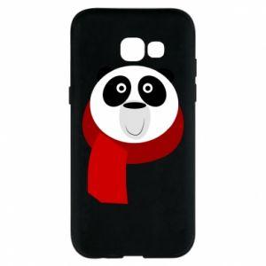 Etui na Samsung A5 2017 Panda in a color scarf